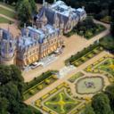 Aerial view of Waddesdon Manor